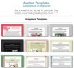 Thumbnail 750 Auction  Templates with MRR.