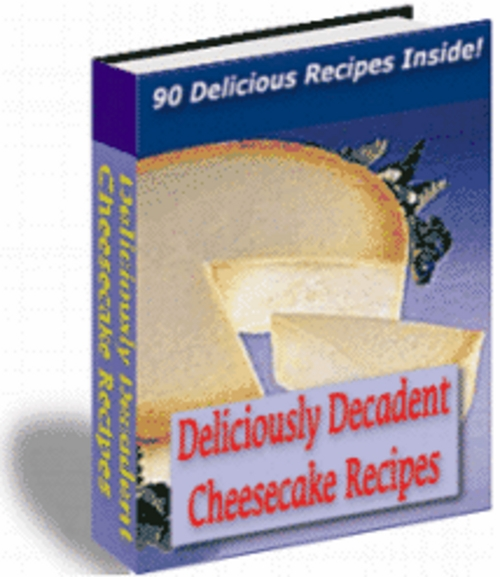 Product picture  Cheese Cake Recipes With Master Resale Rights.