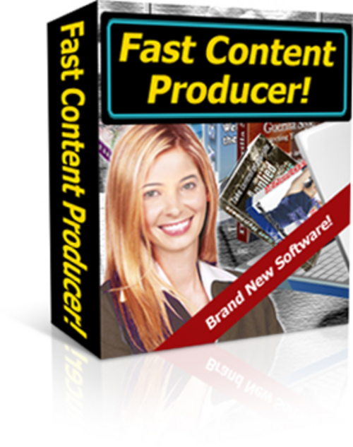 Product picture Fast Content Producer With Master Resale Rights.