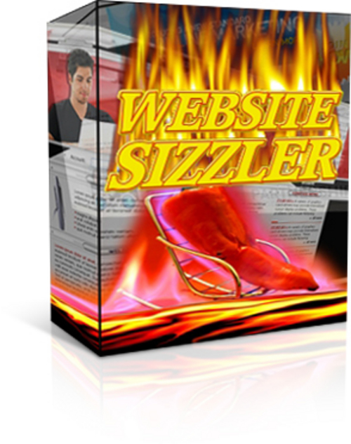 Product picture Web Site Sizzler With Master Resale Rights.