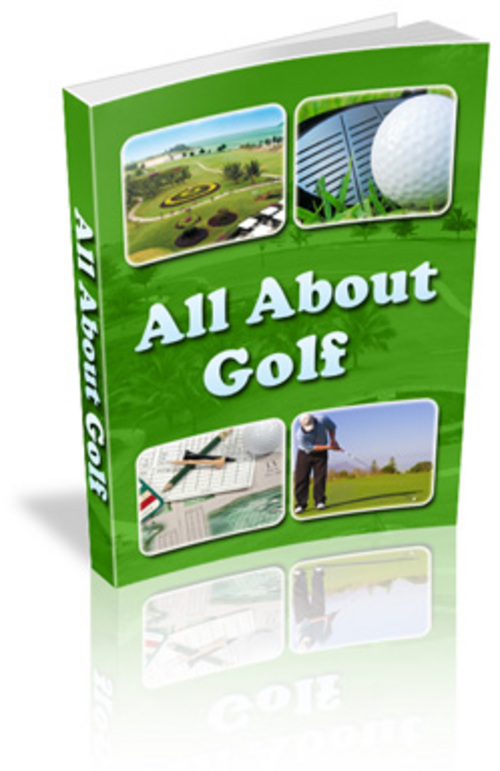 Product picture all about golf With Master Resale Rights.