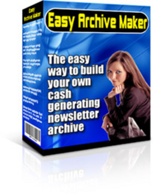 Product picture Easy Archive Maker With Master Resale Rights.