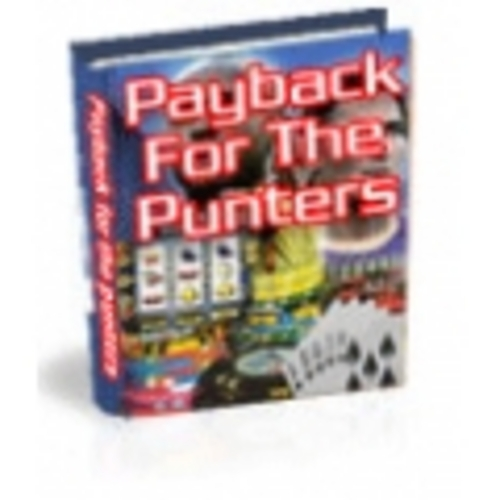 Product picture Payback for the punters With Master Resale Rights.