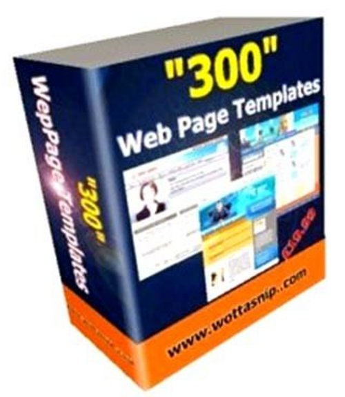 Product picture 300 web templates With Master Resale Rights.