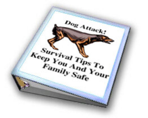 Product picture Dog attack Tips To Keep You And Your Family Safe w/MRR.
